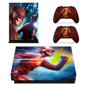 Xbox one X Consoles Controllers DC Comic The Flash Vinyl Decals Skins Stickers