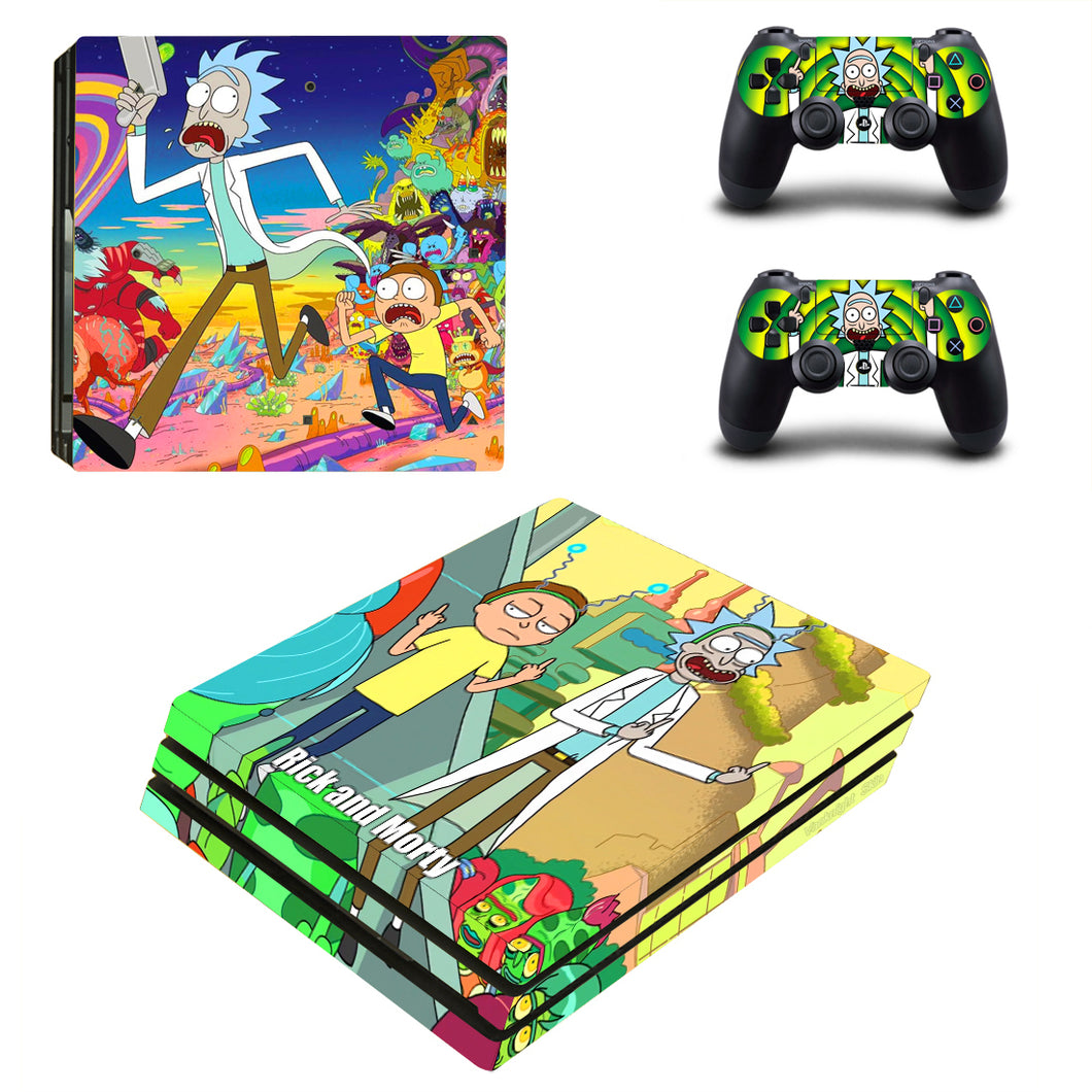 PS4 Pro Console Controllers Skin Anime Rick and Morty Vinyl Decal Sticker Covers