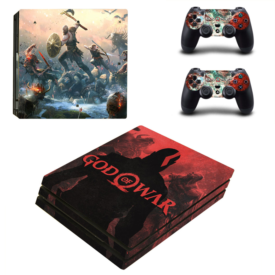 Kratos God of War 4 Vinyl Skin Decals Stickers for PS4 Pro Consoles Controllers
