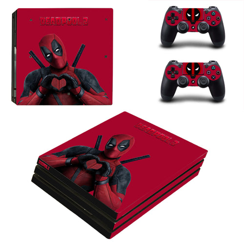 Deadpool 2 Marvel Vinyl Skins Decals Stickers for PS4 Pro Consoles Controllers
