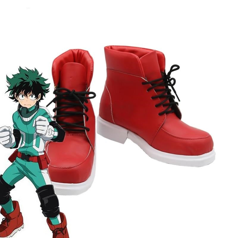 My Hero Academia  Cosplay Shoes Izuku Midoriya Cosplay Boots Battle Cos Men Shoes