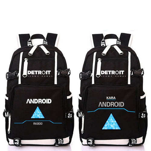 Anime Game Detroit Become Human Design Backpack Bag School Backpacks