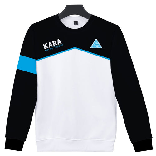 Games Detroit Become Human Body 3D Print Sweatshirt KARA Uniform