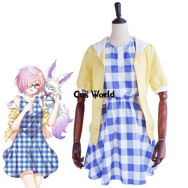 FGO Fate Grand Order Matthew Kyrielite Mash Kyrielight Hoodie Coat Sleeveless Dress