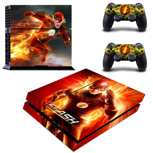 PS4 Skin & Controller DC Comic The Flash VInyl Decals Stickers for PS4 Console