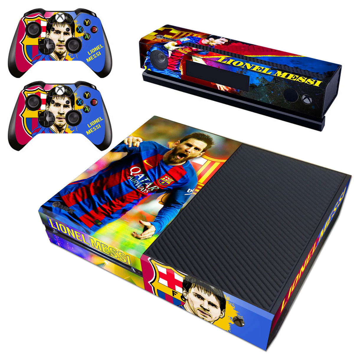 Xbox One Kinect Console Controllers Skins Lionel Messi Fc
