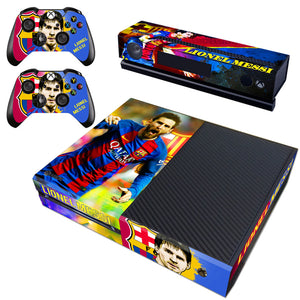 Xbox one Kinect Console Controllers Skins Lionel Messi FC Football Vinyl Decals