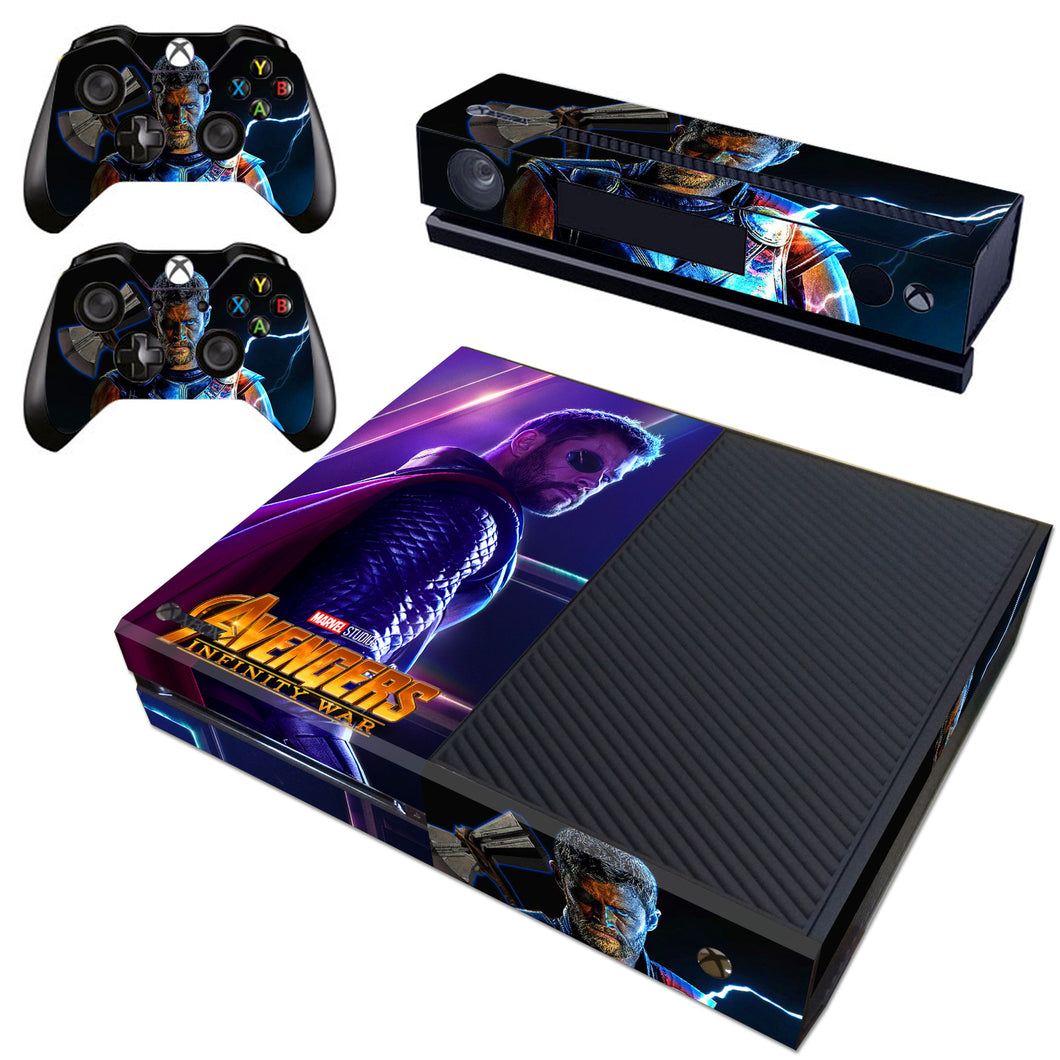 Xbox one Kinect Console Skin Avengers Infinity War Marvel Thor Vinyl Decal Cover