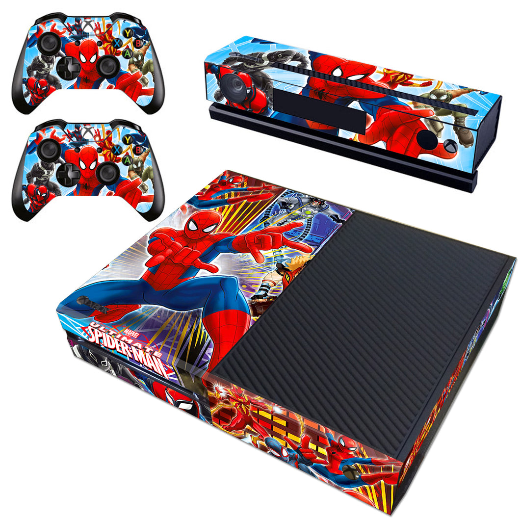 Xbox one Kinect Console Skin Ultimate Spider Man Marvel Vinyl Decal Sticker Wrap
