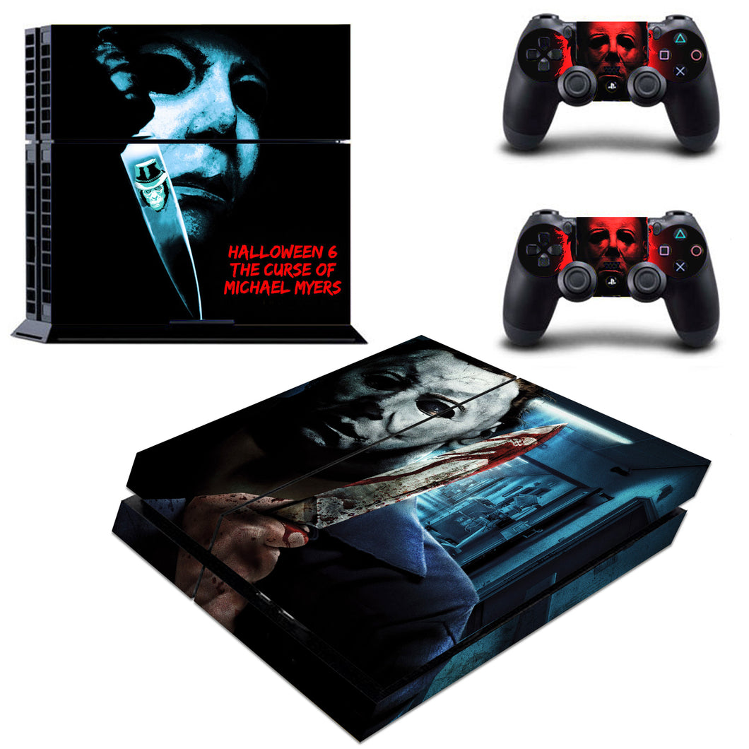 Regular PS4 Console Controllers Michael Myers Halloween Horror Decal Stickers