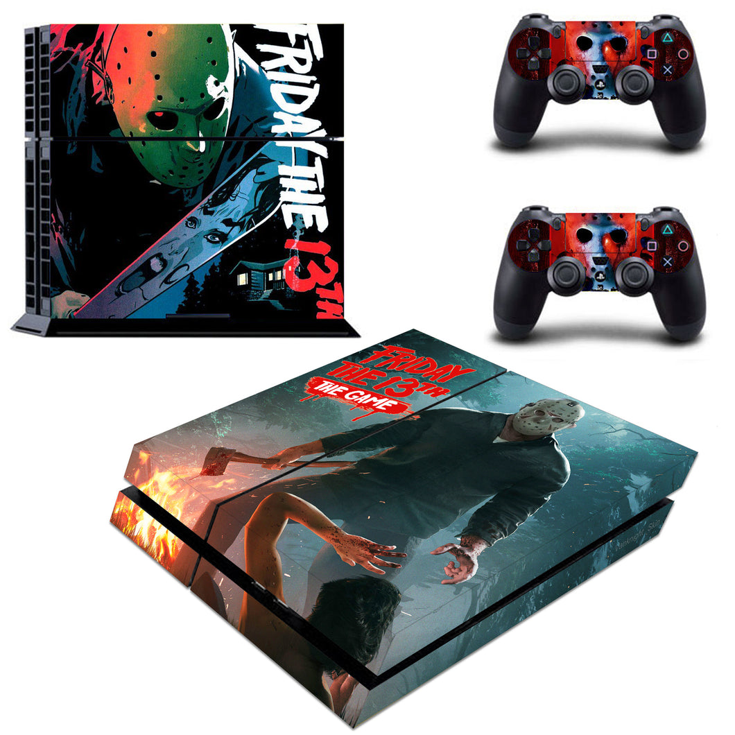 PS4 Console Controllers Friday The 13th Decal Skin Vinyl Stickers Cover Wraps