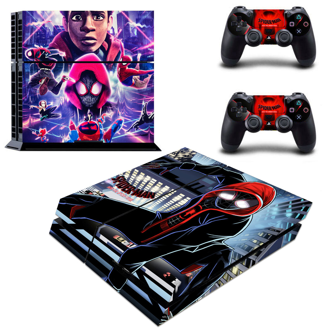 Spider Man Into The Spider Verse Vinyl Skins Decals Stickers for PS4 Consoles