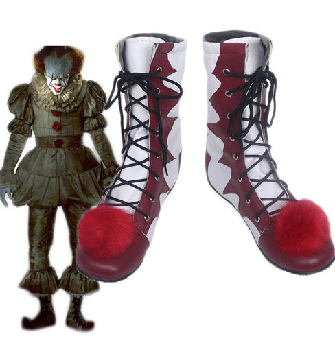 2019 Stephen King IT Chapter Two 2 Pennywise Scary Clown Cosplay Boots Halloween Cosplay Shoes