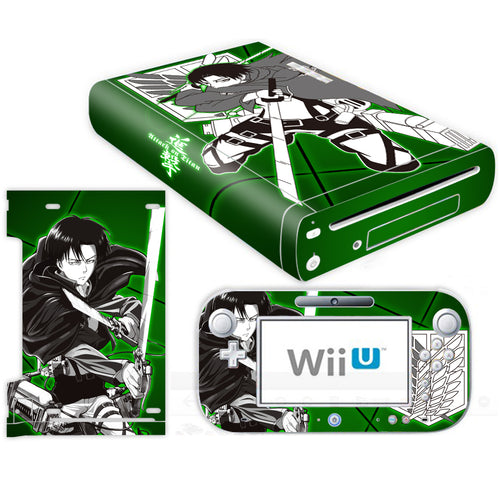 Nintendo Wii U Console Skin Attack on Titan Levi AOT Decal Skins Stickers Wrap
