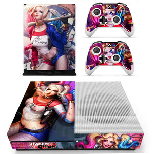 Xbox One S Slim Console Skin Harley Quinn Batman Vinyl Decals Stcikers for XB1-S