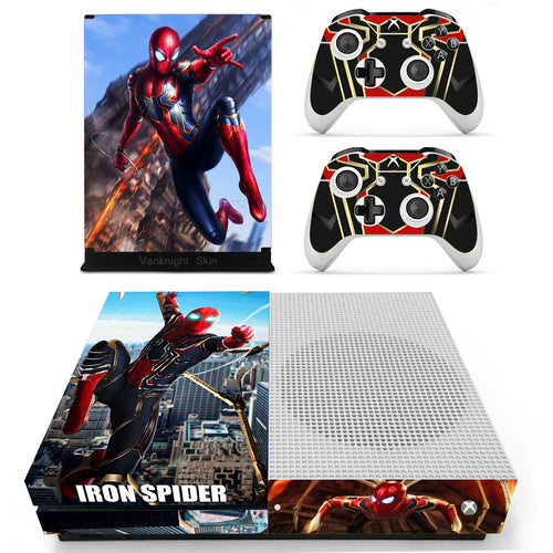 Faceplates, Decals & Stickers Video Game Accessories Regular Ps4 Console Controllers Skin Spider Man Marvel Comic Cosplay Vinyl Decal