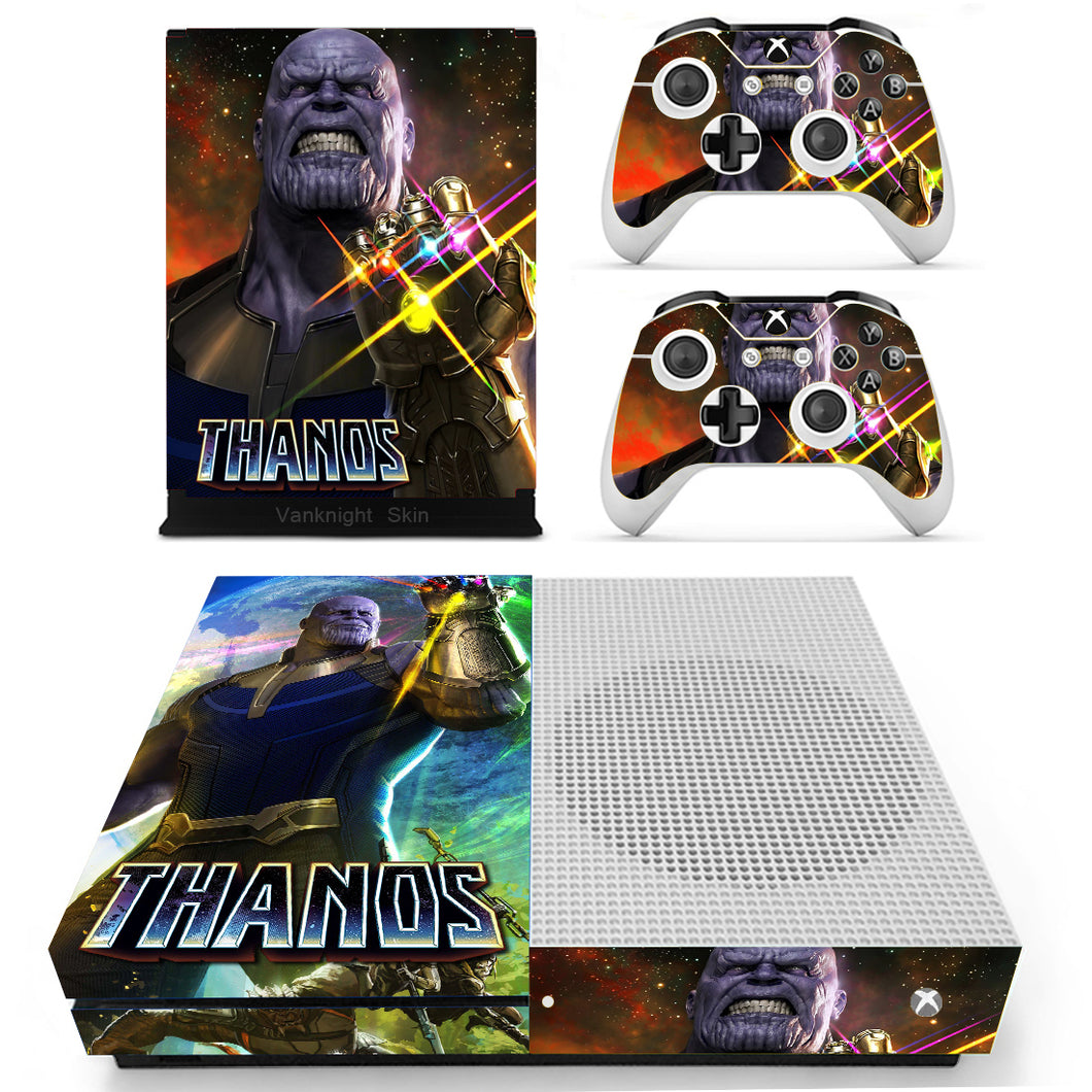 Xbox One S Slim Console Skins Thanos Infinity Gauntlet Glove Avengers Infinity War Marvel Vinyl Decals