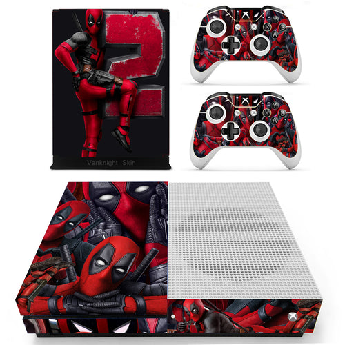 Xbox One S Slim Console Skin Deadpool 2 Marvel X-Force Vinyl Decal Stickers