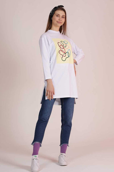 Mavi Limon sweatshirt Chain White90
