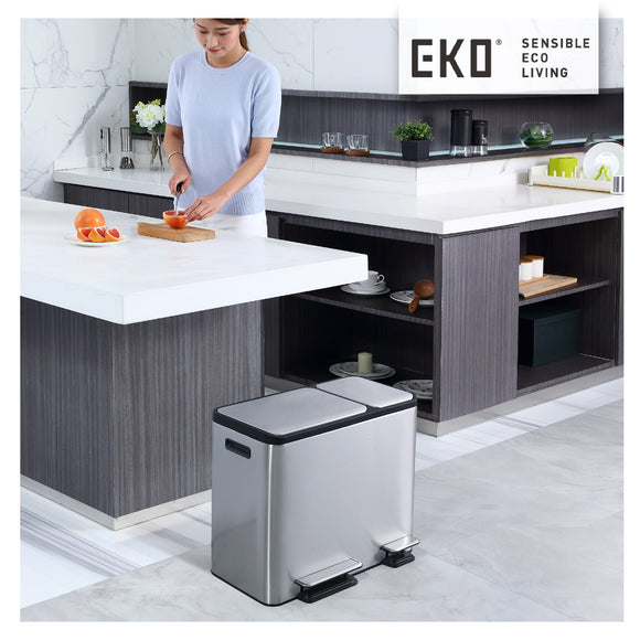 EKO stainless steel trash cans combine beauty and function
