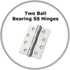 Euroart Two Ball Bearing Stainless Steel Hinges