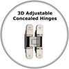 Euroart 3D Adjustable Concealed Hinges