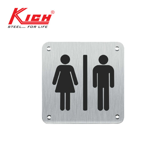 SIGN PLATE MALE | FEMALE - K KLS B11 FMS SS