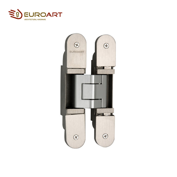 Euroart 3D Adjustable Concealed Hinge 32 x 200mm Satin, Polished and Antique Brass Stainless Steel Finish - 3D200/304/SSS