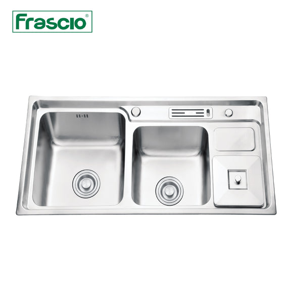 DOUBLE BOWL SINK - FRA 4059243HRSC