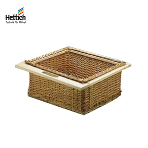 BEACH WOODEN WICKER BASKET WITH RAILING - HT 41901