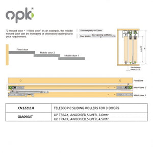 HANGING AND SLIDING ROLLER DOOR - OPK CN 12211 H
