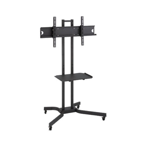 LCD FLOOR MOUNT FOUR WHEELS WITH SHELF - D910