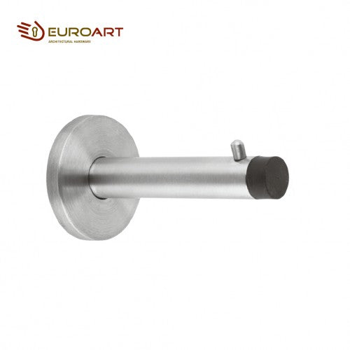 Euroart Wall Mounted Door Stopper with Pin Stainless Steel and Antique Brass Finish - DSS 207 SN