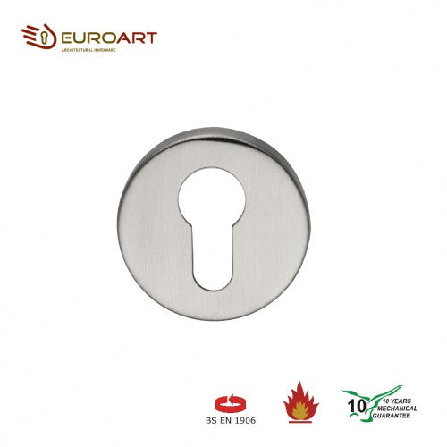 EuroArt Euro Profile Escutcheon 52mm Satin Stainless Steel and Polished Stainless Steel Finish - EES 901 SS