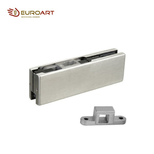Euroart Bottom Patch for Centre Hung Glass Door 304 Grade Stainless Steel Cover Satin and Polished Finish - PF10.SSS