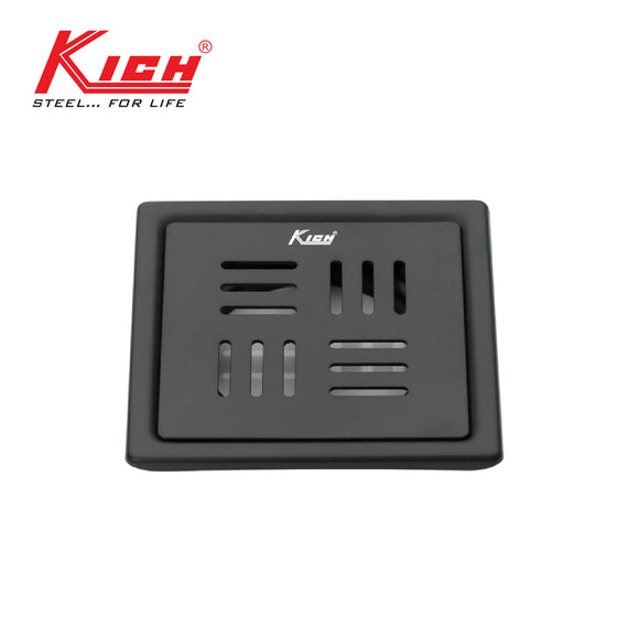 BLACK FINISH FLOOR DRAIN SQUARE - FD216BS