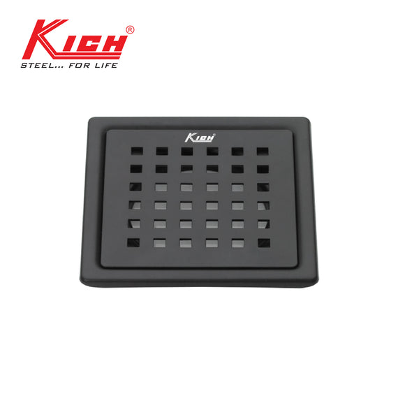 BLACK FINISH DRAIN SQUARE - FD226BS