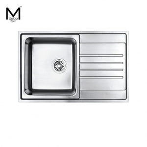 SINGLE BOWL SINK WITH DRAIN L/R - HB 7901