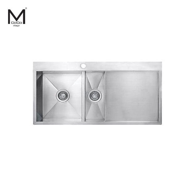 1 ½ BOWL SINK WITH DRAIN - HG 905010/HG 905020