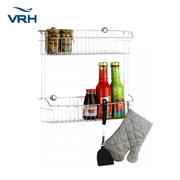 WALLMOUNT SHELF WITH 8 HOOKS - HW102.W102E