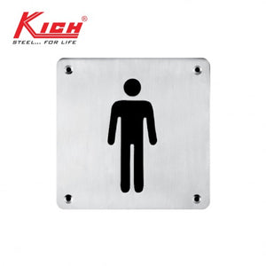SIGN PLATE MALE - KLS B2 MS SS