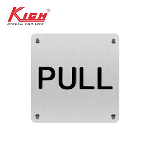 SIGN PLATE PULL - KLS BW PLS SS