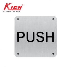 SIGN PLATE PUSH - KLS BW PSS SS
