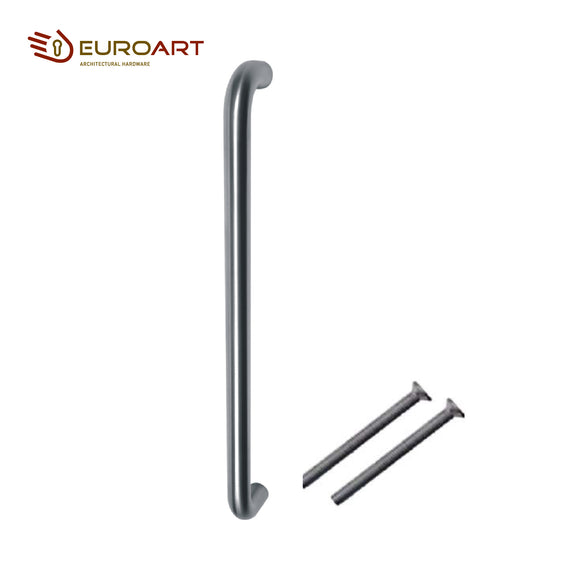 Euroart Main Door D Pull Handle 19 x 300mm Bolt Through and Back to Back Pair on Rose - PHS 103 SSS