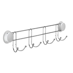 Suction hooks for the shower are designed with 8 towel hooks, suitable for hanging towels on the bathroom wall.  We can fix the bathroom hooks on the wall just minutes, never drill holes or screws. The heavy-duty suction cup helps stick on a smooth wall firmly.