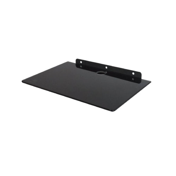 BLACK COLOR SINGLE GLASS SHELF - Q 08