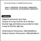 KEY BOX SMALL / MEDIUM COMBINATION - YKB/200/CB2, YKB/540/CB2