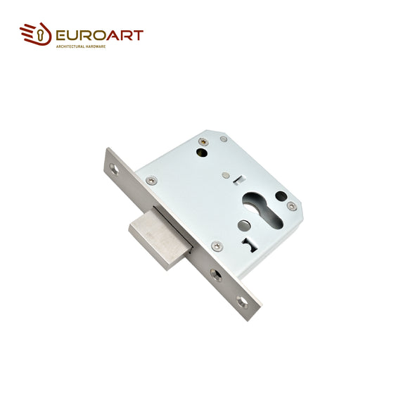 Euroart DIN Flat Deadlock Satin Stainless Steel, Polished Stainless Steel Finishes - FD0055EP SSS