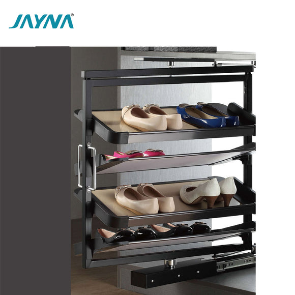 JAYNA 6 LAYER REVOLVING PULLOUT SHOE CABINET STORAGE SHOE RACK - G 503D