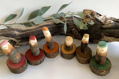 The Tree People - Earth Rainbow - Set of 6